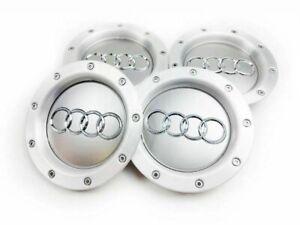 4x 146mm 8D0601165K Wheel Centre Caps Hub Cover Gray
