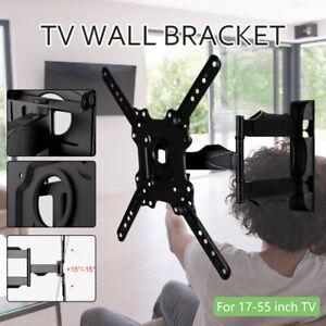 """Full Motion TV Wall Mount Bracket Tilt Swivel for 17 22 25 30 38 40 50 55 55"""" TV"""