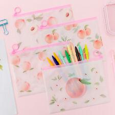 10 Pcs File Holder Transparent PVC Pouch Zipper Filing Organizer Waterproof Bags