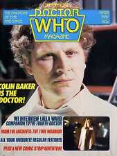 DOCTOR WHO MAGAZINE #88 COLIN BAKER, LALLA WARD, THE TIME WARRIOR, SHAPE SHIFTER