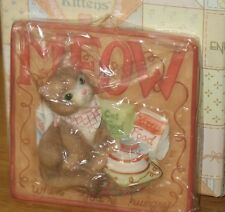 """Enesco Calico Kittens Meow When You Are Hungry """" Nib"""