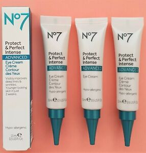 Eye Cream Protect & Perfect Intense ADVANCED By Boots 3 x15ml Boxed- UK Made