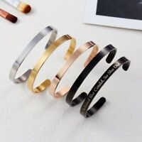 Personalized Stainless Steel Custom Symbol Letter Name Cuff Bracelet Bangle Gift