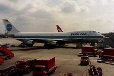 PRINT of Pan Am Boeing 747 at London Heathrow Airport 1989