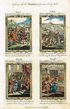 "Bankes' Christian Bible ""ATHALIAH MOTHER OF AHAZIAH"" etc - H-Col. Eng. -c1760"