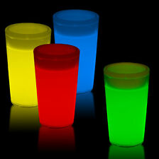 GLOW CUPS 24pk MULTI COLOUR Glow in the Dark SHOT GLASSES - 60ML Clearance Sale