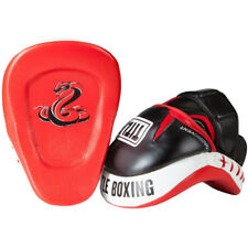 Title Boxing Serpent Strike Aerovent Contoured Leather Punch Mitts -Black/Red