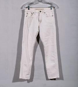 American Eagle Extreme Flex Slim Ivory Off White Jeans Sz 28 x 29