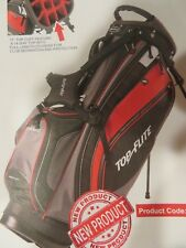 New 2017 Top Flite Gamer Golf Stand Bag 14 Way Divider Black Red TF17GAMERSB