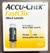 Accu-Check FastClix Lancets Box of 102, Exp 01/31/2023, NEW