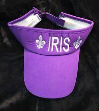 Krewe Of Iris New Orleans Mardi Gras Krewe Purple Visor Cap