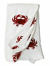 J.Crew Factory - Nwt$49 - Red/White Crab Printed 100% Cotton Terry Beach Towel