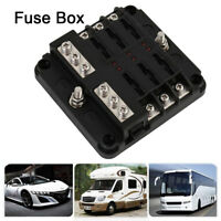 Fuse Box 6 Way Blade Holder Block Auto Car Power Distribution Panel 12/24V Board