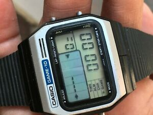 vintage casio GM-10 Wrist watch Module165 mens watch Rare Fully Functional