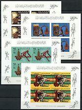47/Libyen Libya 1979 Olympiade Olympics 767-70 II B Kleinbögen Imperf ** MNH