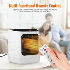 Digitaler Heizlüfter 800W Fernbedienung Mini Heizung Elektro Heizgerät Timer DE