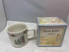Peter Rabbit Christening Mug by Wedgwood - Boxed - 1996