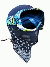 Grace Folly C3 Winter Face Mask Black/White Bandana Ski Snow Board Motorcycle