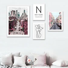 New York City Canvas Poster Landscape Wall Art Print Picture Nordic Style Decor