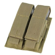 Condor MA23-003 TAN MOLLE PAL Double Stack Pistol Magazine Mag Pouch