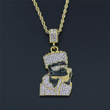 18K Hip Hop Iced Out Quavo Choker Full Diamond Rhinestone Chain Necklace Present