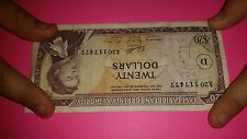 1965 east caribbean currncy authority 20 dollar bill