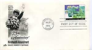 2980 19th Amendment,Women's Suffrage ArtCraft, FDC