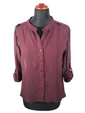 Ann Christine Damen Bluse Shirt Top Wein Rot M 36 38 Locker Elegant Büro