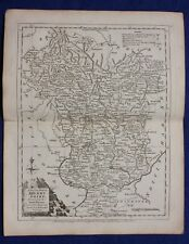 Original antique county map DERBYSHIRE, J.Ellis, c.1765