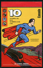 CANADA SUPERMAN COMPLETE BOOKLET OF TEN 45c STAMPS  MINT NH