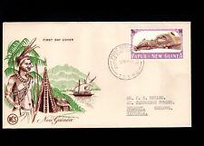 Papua & New Guinea Port Moresby 1st Day 1965 1+6 Australian Pounds 5l