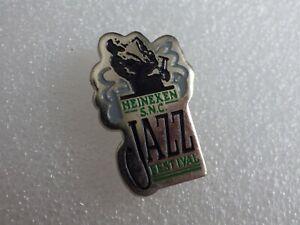 Pin's vintage épinglette pins publicitaire Heineken Jazz festival Lot PA051