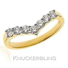 Diamond Wishbone Shaped Wedding Ring 0.50ct Brilliant Cut F VS set in 18ct Gold