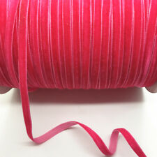 5 yards 6mm Velvet Ribbon Headband Clips Bow hair supplies Craft decoration #02