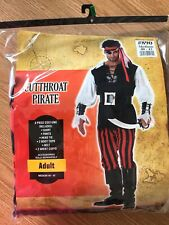 ⚔ CUTTHROAT PIRATE Halloween Costume * Men's Size MEDIUM* Swashbuckler  ⚔