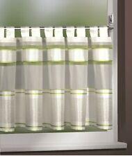 Scheibengardine Bistrogardine Schlaufengardine weiß grün 45x140cm Gardine