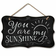 "YOU ARE MY SUNSHINE Chalkboard-Look Wooden Hanging Sign 5.75"" x 9.5"""