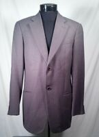 Armani Collezioni Blazer Italy Wool Brown Blue Men's Size 40 R