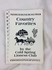 Country Favorites Cookbook Cold Springs Lioness Club Spiral Softcover Recipes