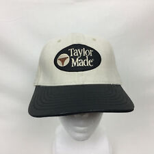 TAYLORMADE Tan Cap Hat Leather Bill Adjust PGA Golf Tiger Woods Box Ship