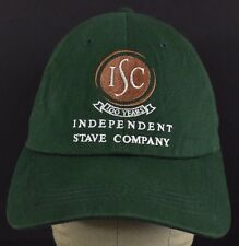 Green ISC 100 Years Independent Save Co embroidered baseball hat cap adjustable