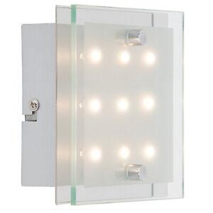 Brilliant G94146/15 San Francisco LED Wandlampe 9x0,8W warmweiß Metall chrom