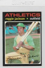 1971 Topps Reggie Jackson #20 Baseball Card Oakland Athletics Stamped On Back