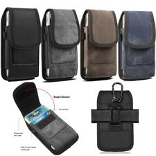 Vertical Carrying Pouch Case Cover Belt Clip Holster For Large Samsung S10+ S9+