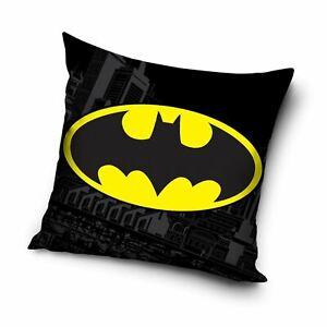 Offiziell Batman Logo Gefülltes Kissen, Kinder, Jungen, Abnehmbar Reißverschluss