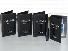 SAUVAGE by DIOR Men's eau de Parfum, Spray Samples QTY OF (4) x .03 oz, 1 ml NEW