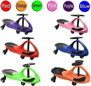 OFFICIAL FLICKER SWING WIGGLE GYRO PLASMA CAR RIDE ON TWIST GO KIDS TOY GIFT