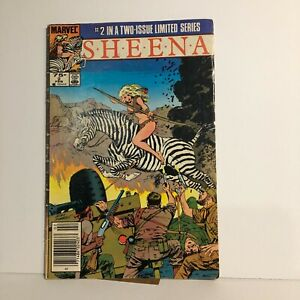 Sheena issues #2 1984 Marvel Limited Series Low Grade Combine Shipping