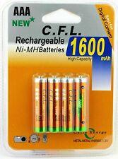 4 Pilas AAA 1600 mAh Baterías Recargables 1.2v Bateria NiMh envío de España