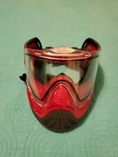 New listing Valken Tactical Airsoft Facemask Red & Black VG+ Missing Visor/Top